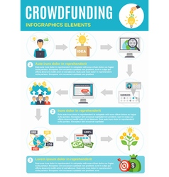 Crowdfunding Infographics With Symbols From vector