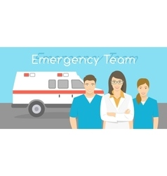 Doctor and nurses ambulance personnel vector image