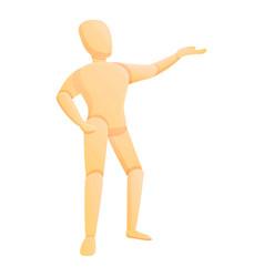 Doll mannequin icon cartoon style vector