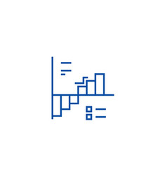 down up charts line icon concept down up charts vector image