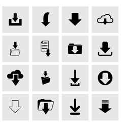 download icon set vector image