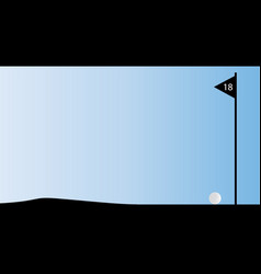 eighteenth hole flag vector image