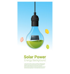 Energy concept background with solar panel in vector