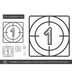 Film countdown line icon vector