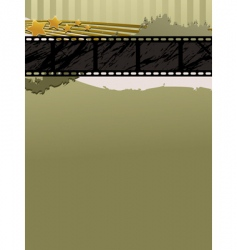 film strip banner vector image