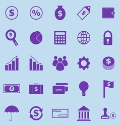 Finance violet icons on blue background vector