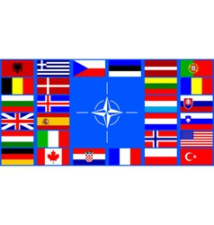 flags of the NATO countries vector image