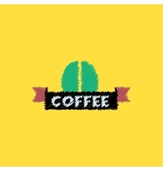 Flat icon design collection sign of coffee vector
