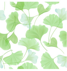 floral seamless pattern with japanese gingko vector image