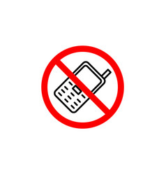 forbidden phone icon can be used for web logo vector image