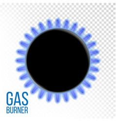 Gas burner kitchen oven isolated on vector