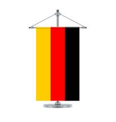 german flag on the cross metallic pole vector image