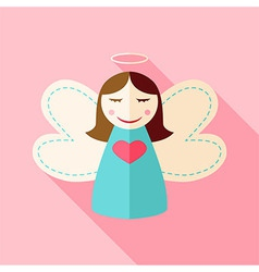 Girl cute angel vector