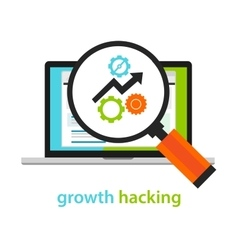 Growth hacking ways how business technology vector