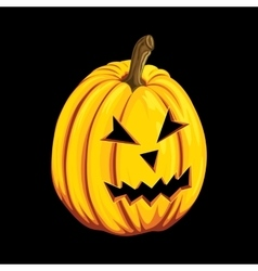 Halloween pumpkin icon in cartoon style Jack o vector