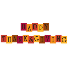 Happy thanksgiving typography on overlapping color vector