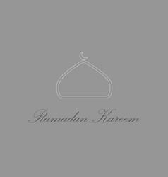 icon in a flat style ramadan logo vector image