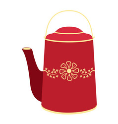 isolated asian style teapot vector image