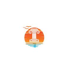 law building justice logo design reindeer vector image