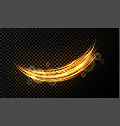 light effect on transparent background golden vector image