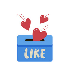 like symbols falling in box or mailbox funny vector image