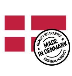 made in denmark label on white vector image