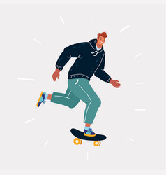 male skater on board vector image