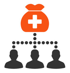 Medical fund clients flat icon vector