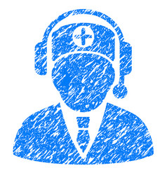 Medical operator grunge icon vector