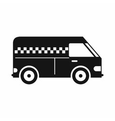 Minibus taxi icon simple style vector