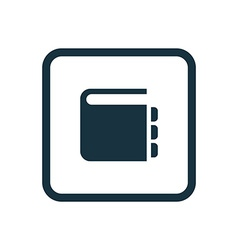 Notepad icon Rounded squares button vector
