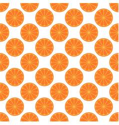 orange fruit seamless art white pattern background vector image