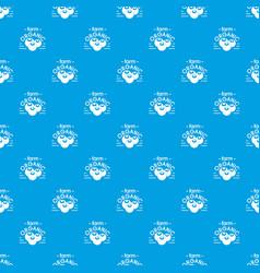 organic farm pattern seamless blue vector image