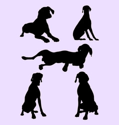 pointer dog silhouette 03 vector image