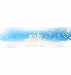 postcard 2019 on the christmas and new year vector image
