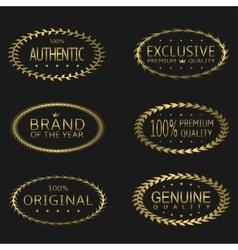 Premium Brand labels vector