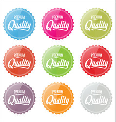 premium quality colorful stickers collection vector image
