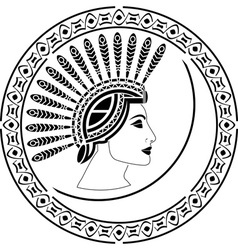 priestess vector image