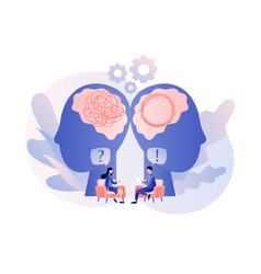 Psychologist consulting patient psychotherapy vector