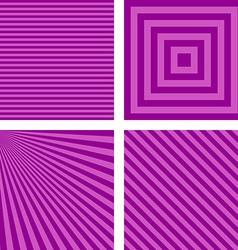 Purple simple striped wallpaper set vector image