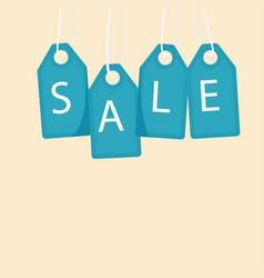 sale blue tag sale background image vector image