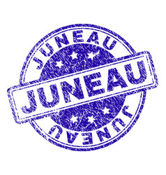 scratched textured juneau stamp seal vector image