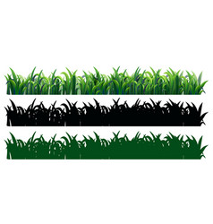 Seamless grass in three styles vector
