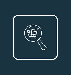 search shop icon line symbol premium quality vector image
