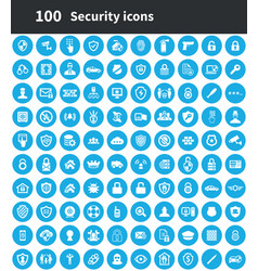 security 100 icons universal set for web and ui vector image