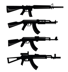 Set of guns vector