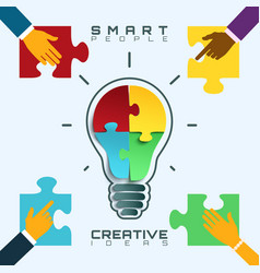 Smart people bright ideas conceptual business vector image
