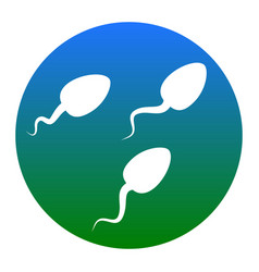 sperms sign white icon in vector image