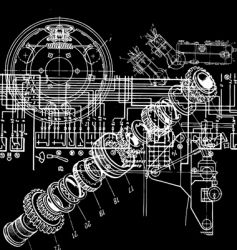 technical drawing vector image