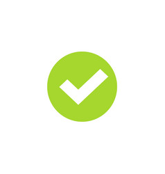 Tick icon in green circle symbol green vector